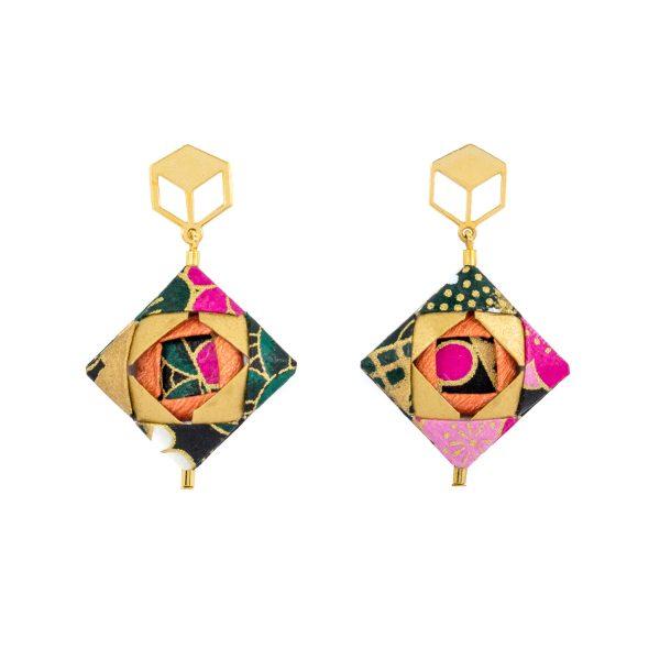 Handmade Origami Paper Earrings
