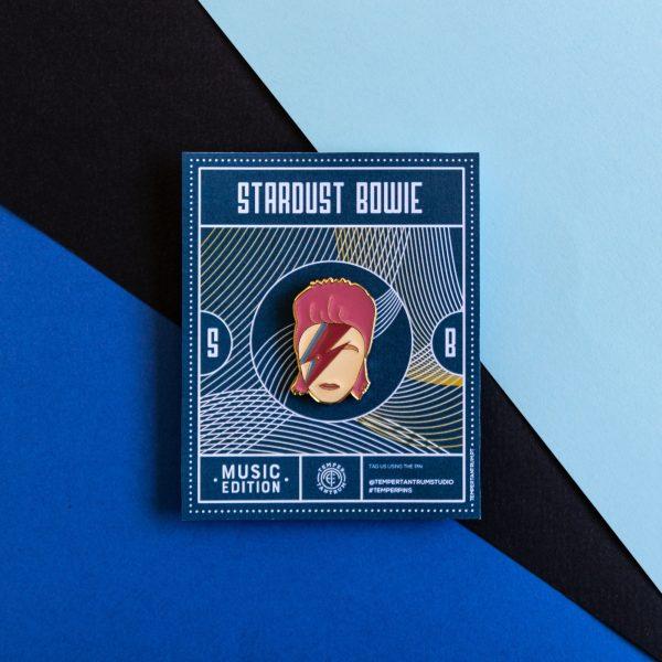 Stardust Bowie Enamel Pin